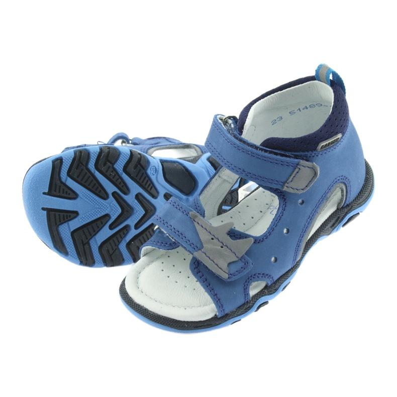 Sandałki chłopięce rzepy Bartek 51489 niebieski zdjęcie 5