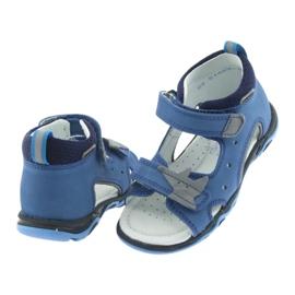 Sandałki chłopięce rzepy Bartek 51489 niebieski 4