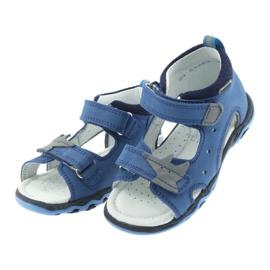 Sandałki chłopięce rzepy Bartek 51489 niebieski 3