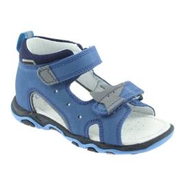 Sandałki chłopięce rzepy Bartek 51489 niebieski 1