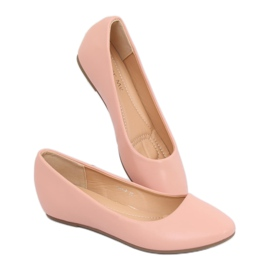 Baleriny na koturnie różowe 7849-P Pink 2