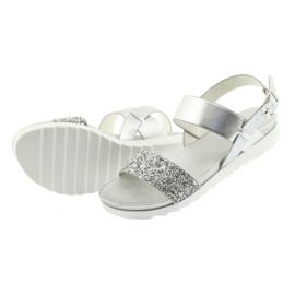 Sandały komfortowe srebrne Filippo 685 szare 4