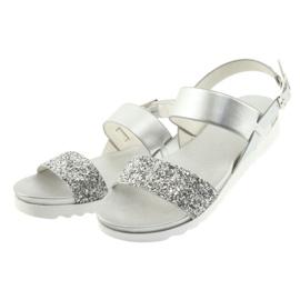 Sandały komfortowe srebrne Filippo 685 szare 3