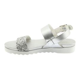 Sandały komfortowe srebrne Filippo 685 szare 2