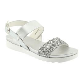 Sandały komfortowe srebrne Filippo 685 szare 1