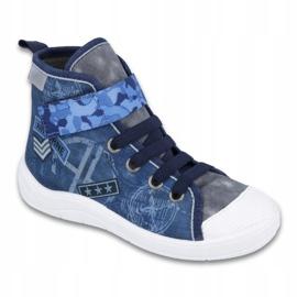 Befado obuwie dziecięce 268Y071 niebieskie szare 1