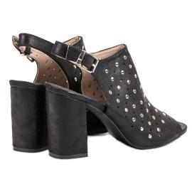 Sandałki Z Dżetami VINCEZA czarne 3