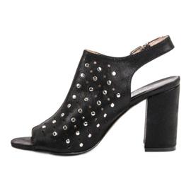 Sandałki Z Dżetami VINCEZA czarne 5