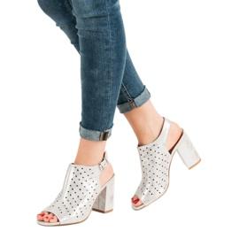 Sandałki Z Dżetami VINCEZA szare 1