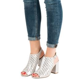Sandałki Z Dżetami VINCEZA szare 6