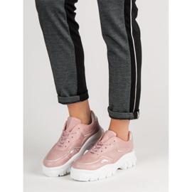 Różowe Sneakersy Z Efektem Holo 2