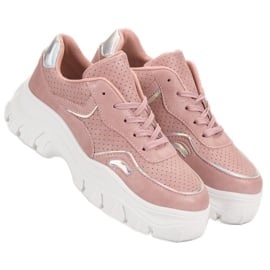 Różowe Sneakersy Z Efektem Holo 1