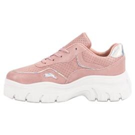 Różowe Sneakersy Z Efektem Holo 5