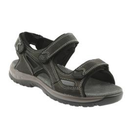 Sandały na rzepy lekki spód EVA DK czarne 1
