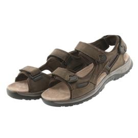 Sandały na rzepy lekki spód EVA DK brązowe 3