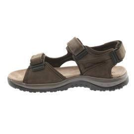 Sandały na rzepy lekki spód EVA DK brązowe 2