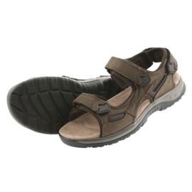 Sandały na rzepy lekki spód EVA DK brązowe 4