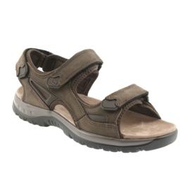 Sandały na rzepy lekki spód EVA DK brązowe 1