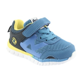 Buty sportowe blue American Club ES35 niebieskie żółte granatowe 4