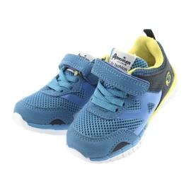 Buty sportowe blue American Club ES35 niebieskie żółte granatowe 8
