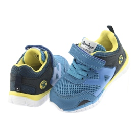 Buty sportowe blue American Club ES35 niebieskie żółte granatowe 10