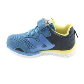 Buty sportowe blue American Club ES35 niebieskie żółte granatowe 7