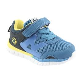 Buty sportowe blue American Club ES35 niebieskie żółte granatowe 5