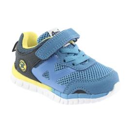 Buty sportowe blue American Club ES35 niebieskie żółte granatowe 3