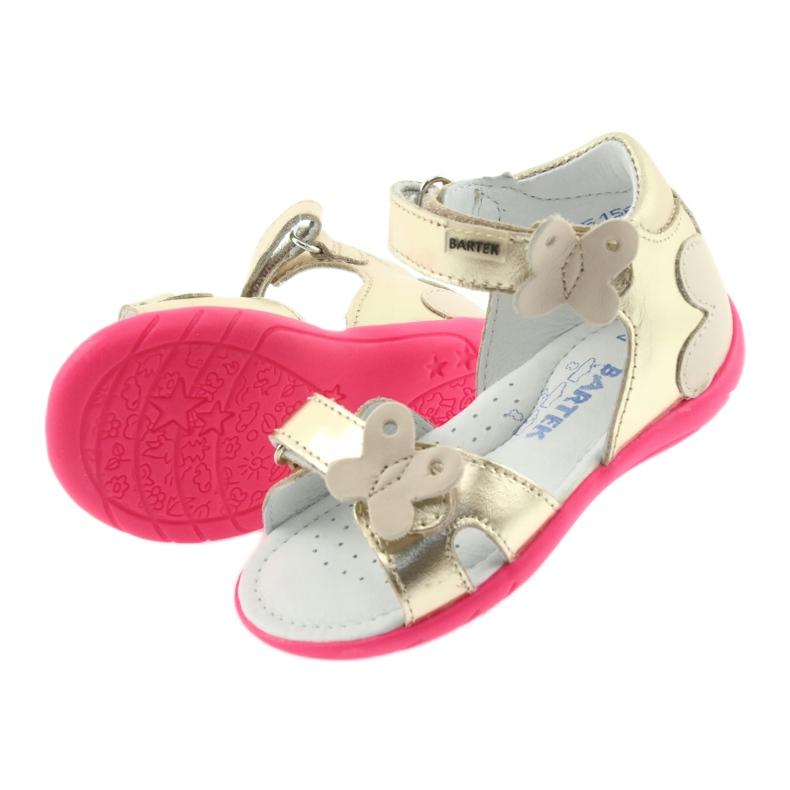 Sandałki dziewczęce motyl Bartek 51569 złote zdjęcie 4