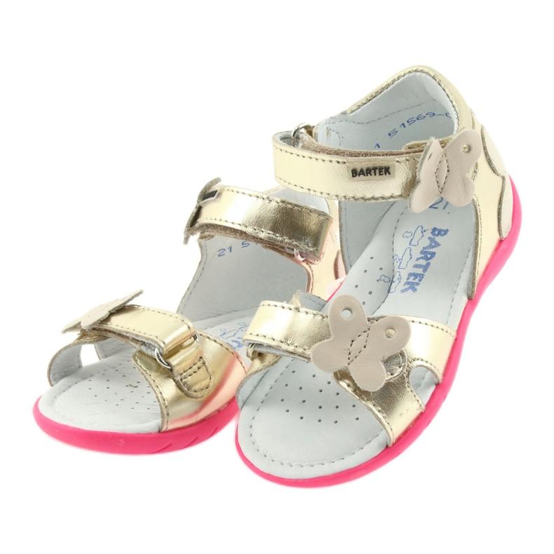 Sandałki dziewczęce motyl Bartek 51569 złote zdjęcie 3