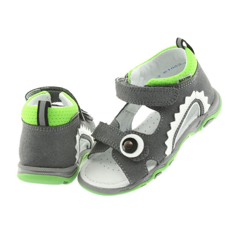 Sandałki chłopięce rzepy Bartek 51063 szare zdjęcie 5