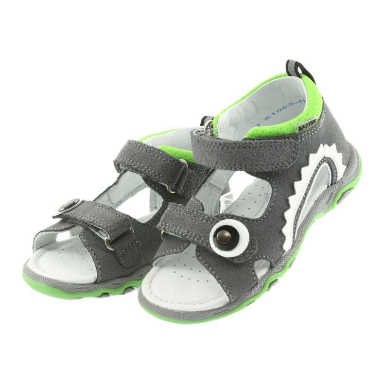 Sandałki chłopięce rzepy Bartek 51063 szare zdjęcie 3