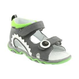 Sandałki chłopięce rzepy Bartek 51063 szare 1