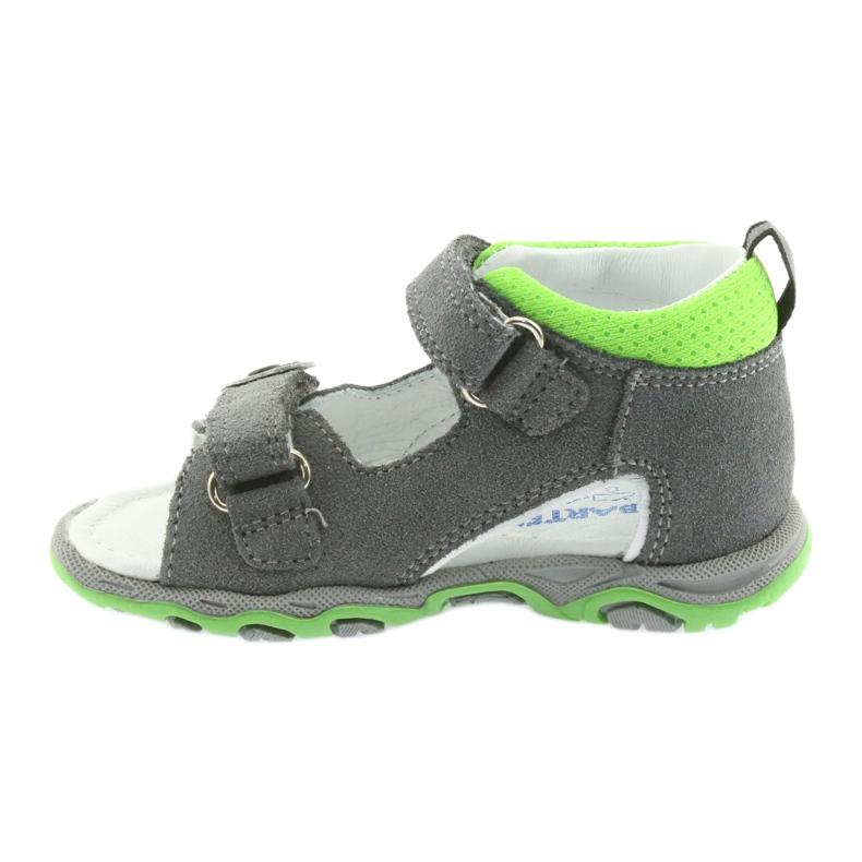 Sandałki chłopięce rzepy Bartek 51063 szare zdjęcie 2