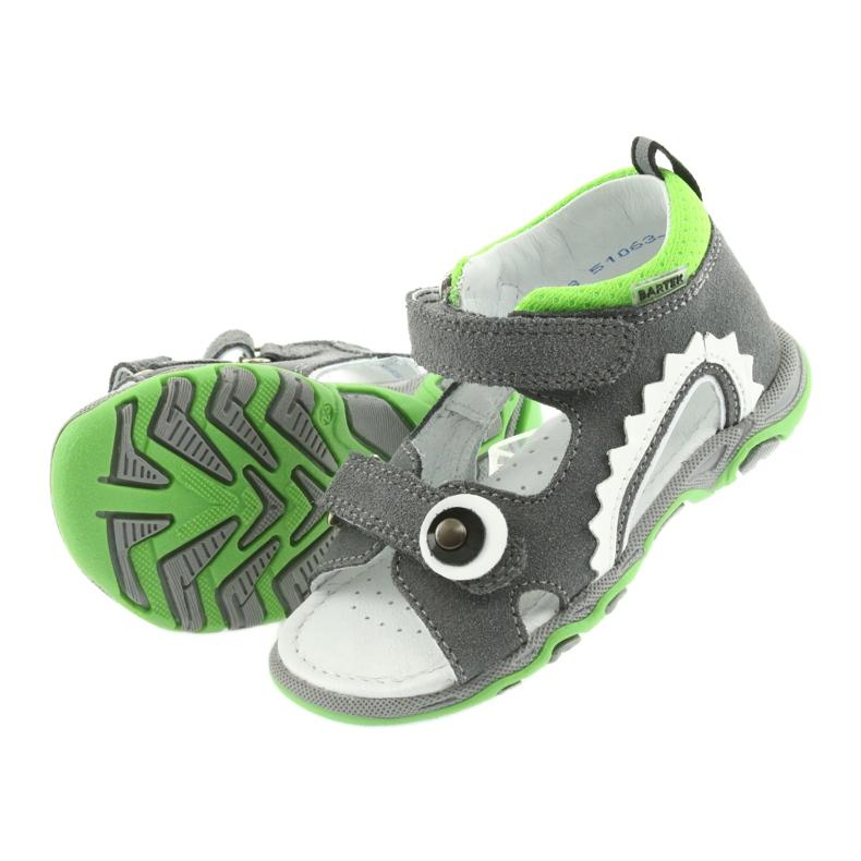 Sandałki chłopięce rzepy Bartek 51063 szare zdjęcie 4