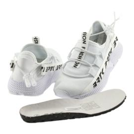 Bartek buty sportowe białe 55109 wkładka skóra czarne 4