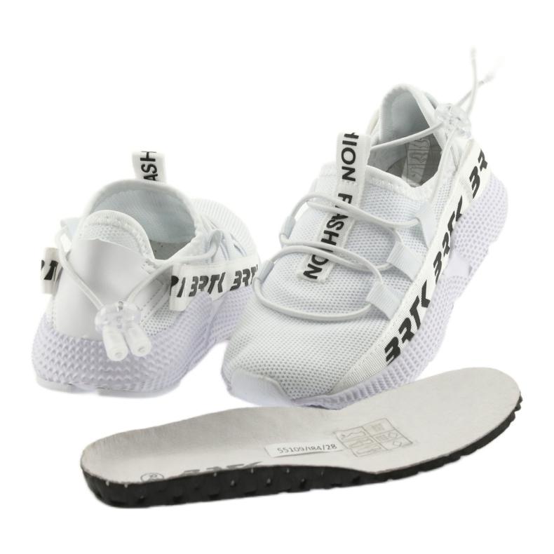 Bartek adidasy sportowe białe 55109 wkładka skóra zdjęcie 4