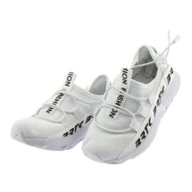 Bartek buty sportowe białe 55109 wkładka skóra czarne 3