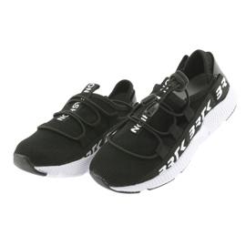 Bartek buty sportowe czarne 55109 wkładka skóra białe 3