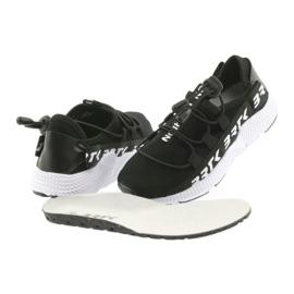 Bartek buty sportowe czarne 55109 wkładka skóra białe 4