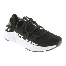 Bartek buty sportowe czarne 55109 wkładka skóra białe 1