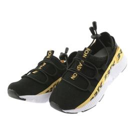 Bartek buty sportowe czarne 55109 wkładka skóra żółte 3