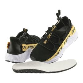 Bartek buty sportowe czarne 55109 wkładka skóra żółte 4