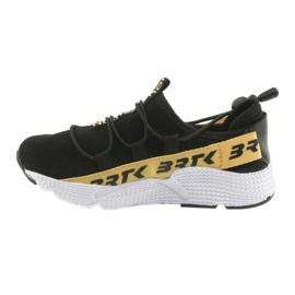 Bartek buty sportowe czarne 55109 wkładka skóra żółte 2
