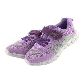 Befado obuwie dziecięce 516Y025 fioletowe szare 3