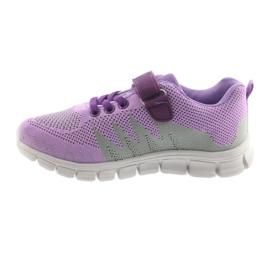 Befado obuwie dziecięce 516Y025 fioletowe szare 2