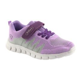 Befado obuwie dziecięce 516Y025 fioletowe szare 1