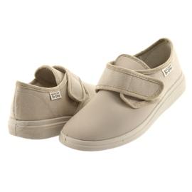 Befado obuwie damskie pu 036D024 brązowe 5