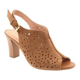 Ażurowe sandały na słupku Espinto 317 1
