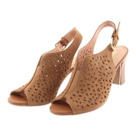 Ażurowe sandały na słupku Espinto 317 3